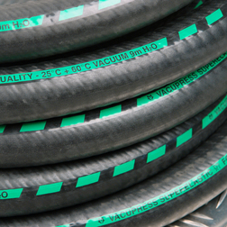 63mm  Vacupress Superelastic Suction and Delivery Hose Green Stripe