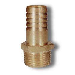 1 BSPT Brass Hex M Hose Tail
