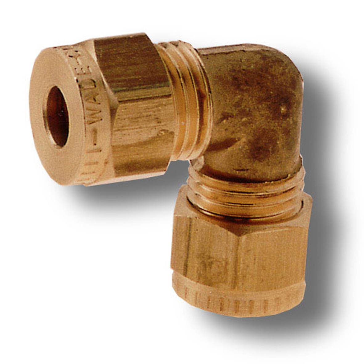 """Copper Olives Wade Brass 5//16/"""" Equal Elbow Compression Fitting"""