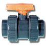 20mm ABS Plain Industrial D.Union Ball Valve