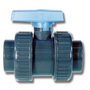 1 1/4 Plain PVC Economy D.Union Ball Valve