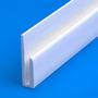 8ft PVC J Section Cladding Profile