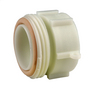 IBC White PP Male Female Adaptor 2 RJT - S60x6