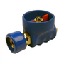 1/2 BSP St/St Rubber Coated Ball Valve Blue C/W SST200 Coupling