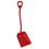 Vikan Shovel Short Handle Large Blade Red