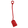 Vikan Shovel Long Handle Small Blade Red