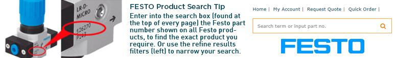 Festo Product Finder - Enter part number in search box or use refine results
