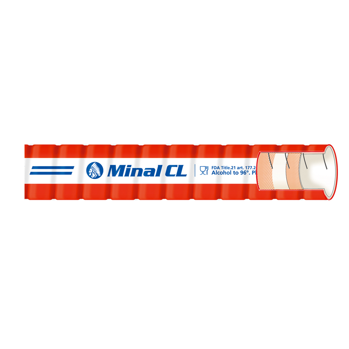 32mm Minal CL RED Brewers Suction and Delivery Hose 10 bar