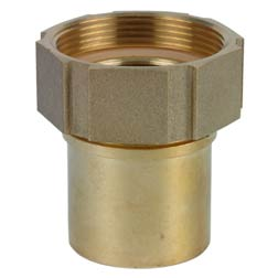 1 1/4 BSP 60deg x 1 1/4 (32mm) Brass Female RS DIN 2817 Coupling