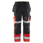 1508 Blaklader High-Vis X1500 Trousers Black/Red W41-L30