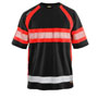 3337 Blaklader UV T-shirt High vis Black/Red XS