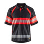 3338 Blaklader UV Polo Shirt High vis Class 1 Black/Red 4XL