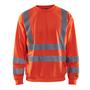 3341 Blaklader Sweatshirt High Vis Red XS