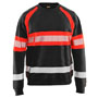3359 Blaklader High Vis Sweater Black/Red XS
