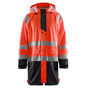 4324 Blaklader Rain Jacket High Vis Level 1 Red/Black S