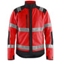 4888 Blaklader High Vis Windproof Fleece Jacket Red/Blk 4XL
