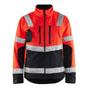 4900 Blaklader High Vis Softshell Jacket Red/Black XXXXL