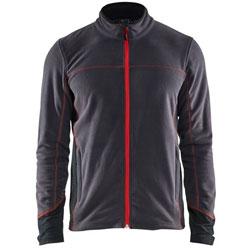 4995 Blaklader Light Weight Fleece Grey/Red L